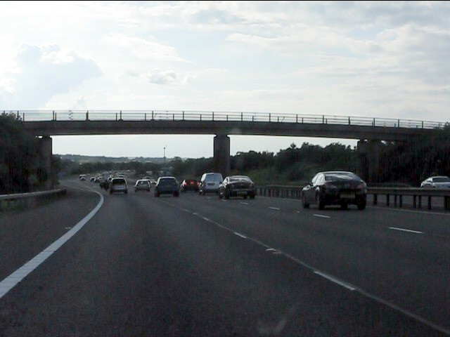 M40 motorway - The Old Gated Road bridge