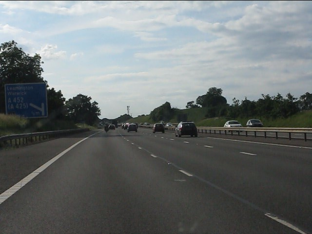 M40 motorway - half-mile to junction 13