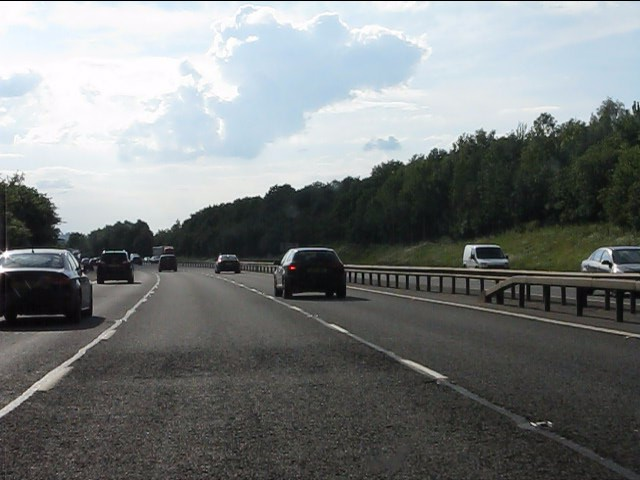 M40 motorway west of junction 14