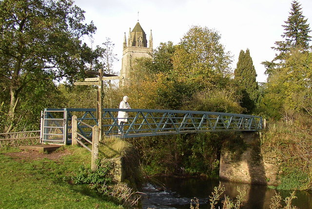 Footpath bridge over the River Lugg