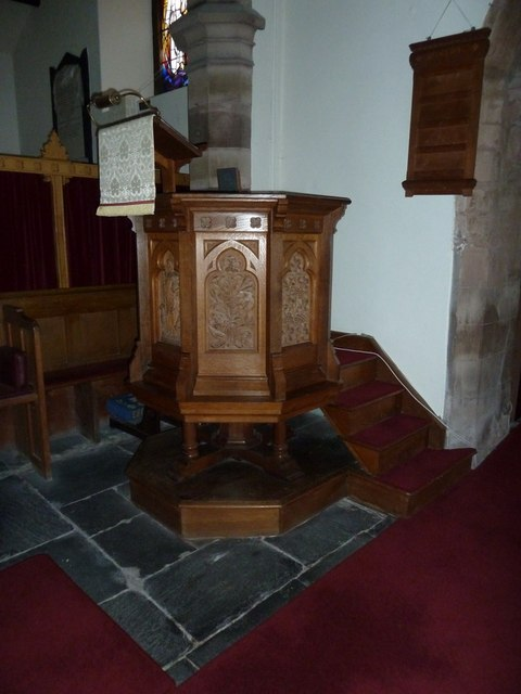 St Cuthbert's Church, Aldingham, Pulpit