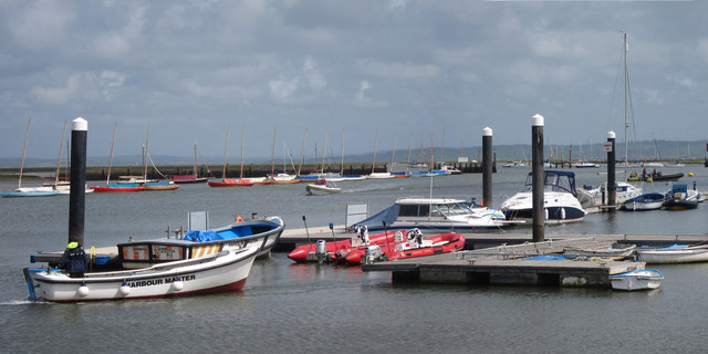 Boats at Lymington River