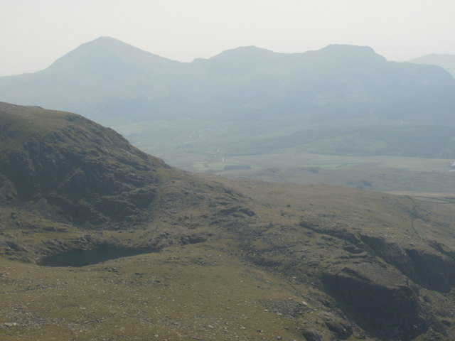 Moel Hebog range from the Snowdon Ranger path
