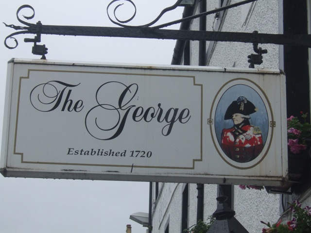 Sign at the George Hotel