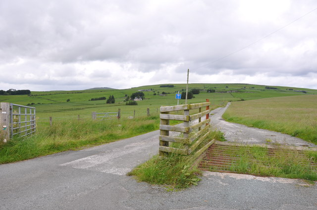 The Entrance to Maes Tyddyn and high ground
