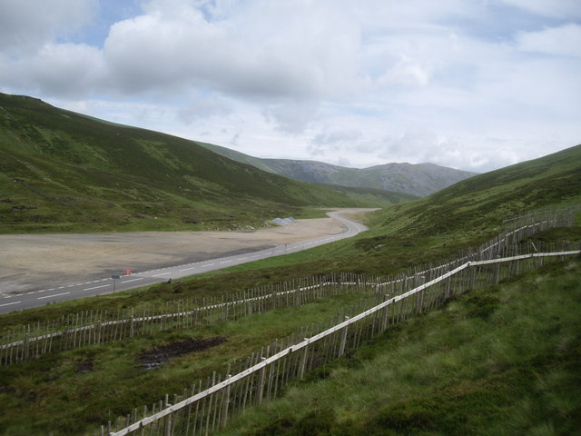 The A93 begins its descent into Glenshee