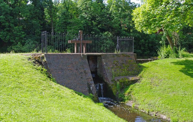 Sluice in Broadwaters Park, Stourbridge Road, Broadwaters, Kidderminster