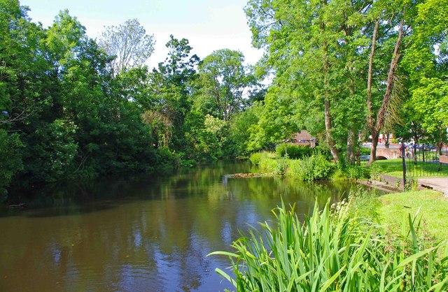 Pool at Broadwaters Park, Stourbridge Road, Broadwaters, Kidderminster