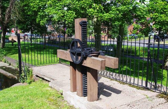 Sluice mechanism, Broadwaters Park, Stourbridge Road, Broadwaters, Kidderminster