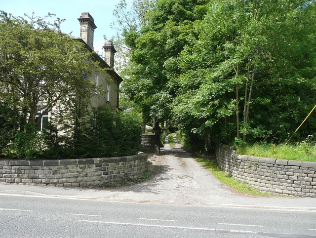 Driveway to Ewood Hall off Burnley Road
