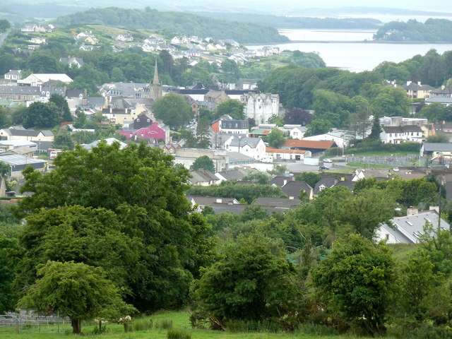 Donegal Town seen from Drumroosk East
