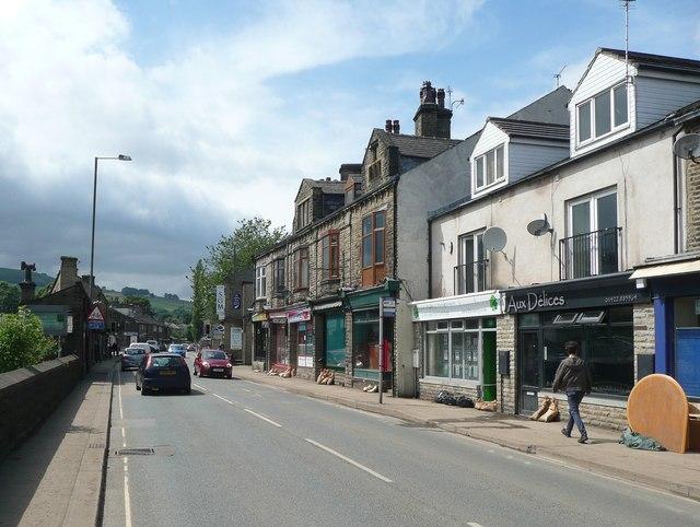 Burnley Road, Mytholmroyd, after the flood