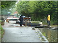 SO8554 : Worcester & Birmingham Canal - bucketing down by Chris Allen