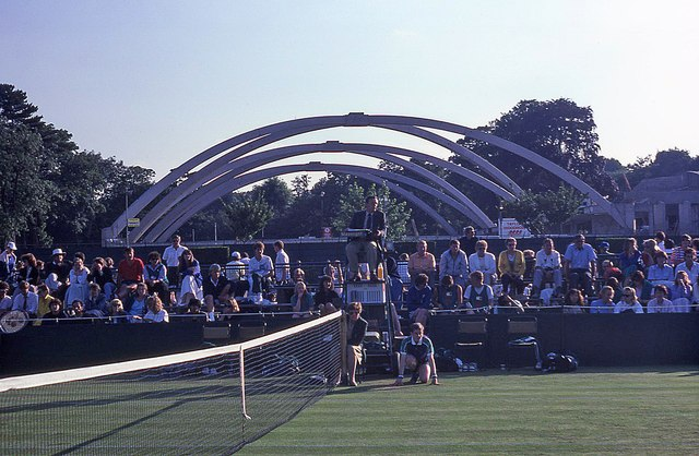 Wimbledon 1988 - Looking across the centre of Court 7