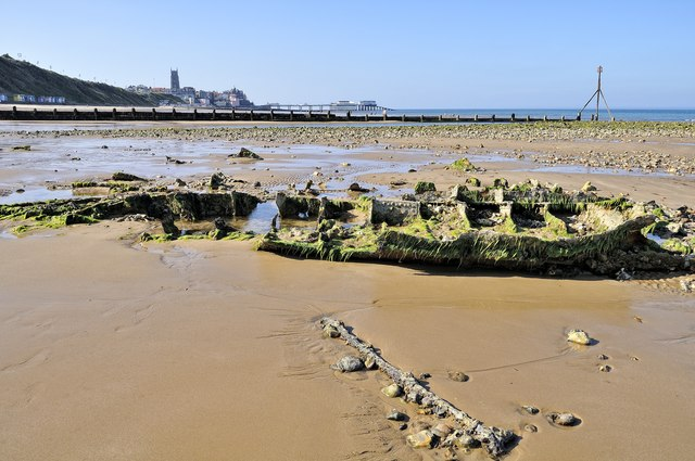 Unidentified shipwreck, Cromer beach
