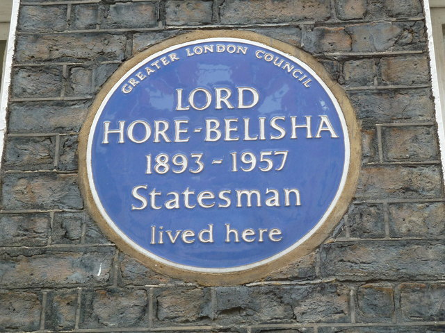 Blue plaque in Stafford Place
