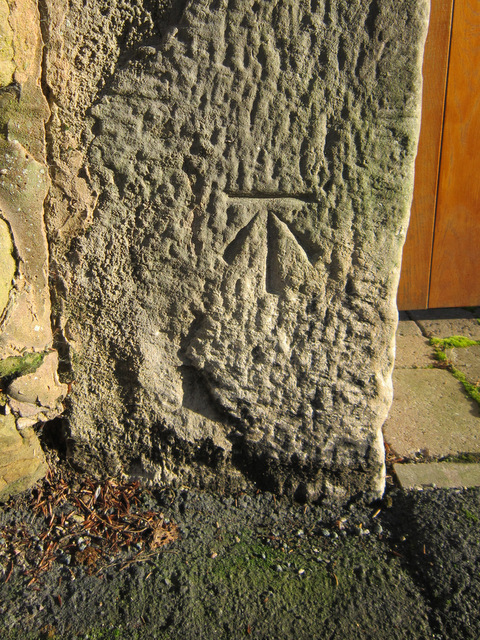 Bench mark outside Pendre Cottage