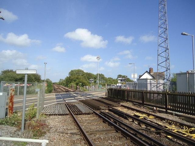 Railway line, Pevensey Bay