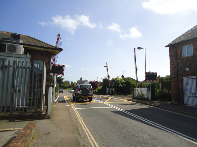 Level crossing, Pevensey and Westham railway station