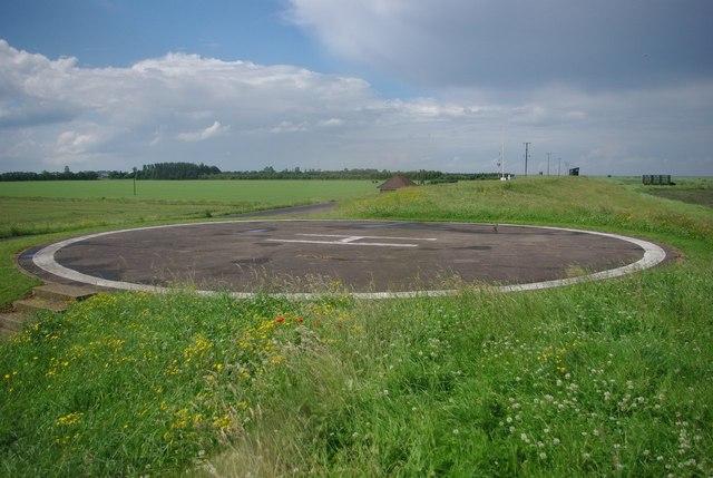 RAF Holbeach helipad