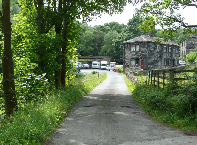 Driveway to the former Vale Mill, Cragg Vale