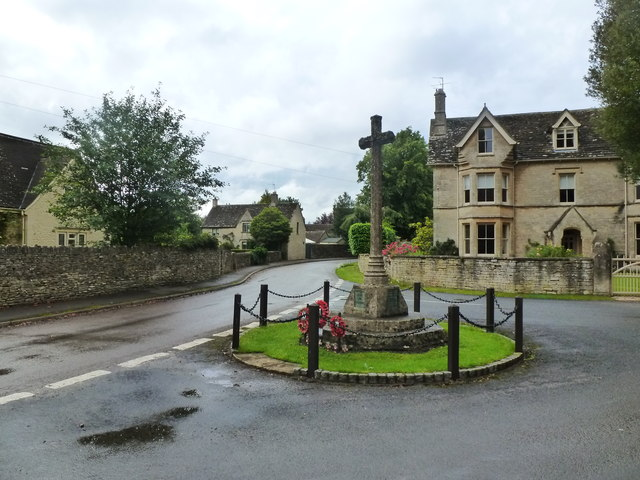 War Memorial and road junction, Kemble
