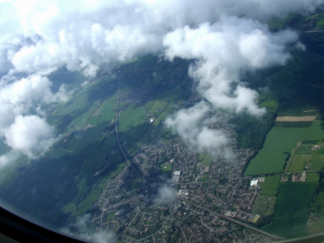 Flitwick from the air