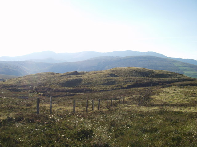 Flanks of Moel y Cerrig Duon towards Arans