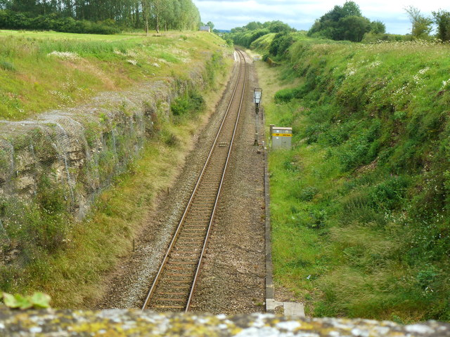 The railway line to Swindon
