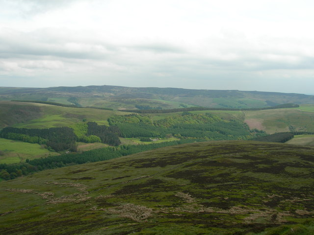 View east-northeast from Crookstone Knoll