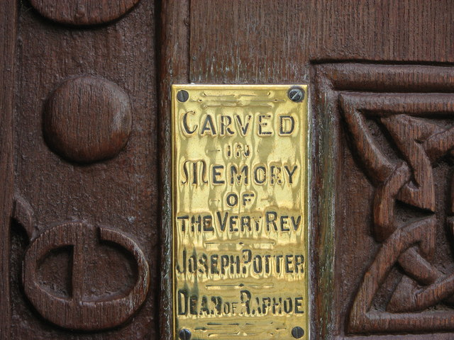 Information plaque, Raphoe Cathedral