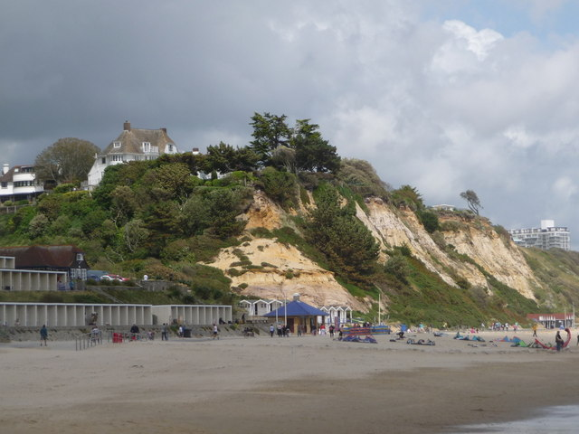 Branksome: the cliffs at Branksome Dene