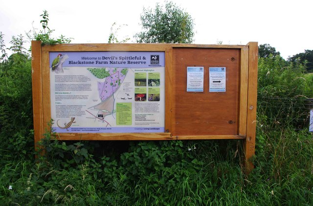 Information board by farm road, Blackstone