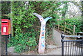 TQ7570 : National Cycle Network, Milepost by N Chadwick