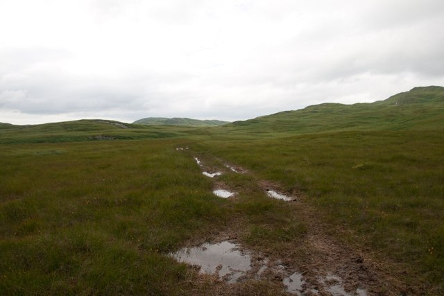 ATV track across north Jura
