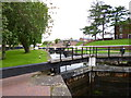 SO8170 : Stourport, wide locks by Mike Faherty