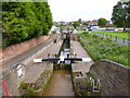 SO8071 : Stourport, narrow locks by Mike Faherty
