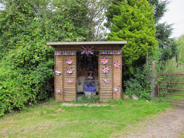 Jubilee Display in shed