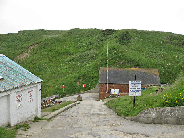 Down to the old lifeboat station, North Landing