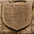 SD6721 : Darwen Tower, Restoration Plaque by David Dixon