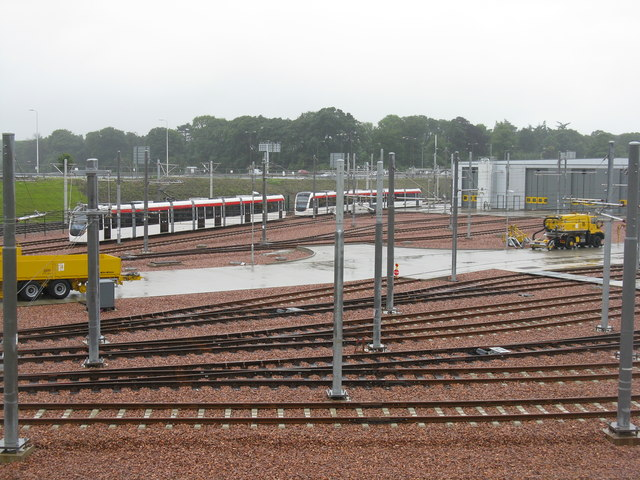 Edinburgh Tram Depot and the A8