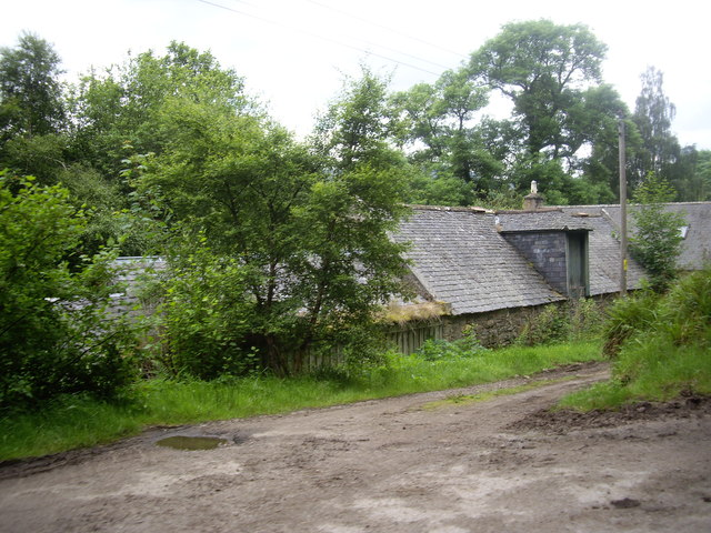 Access to the riverside croft near Easter Balmoral