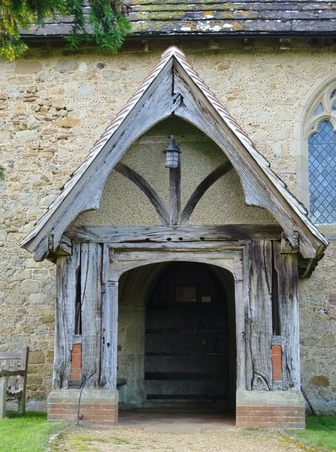 Dunsfold church: the south porch
