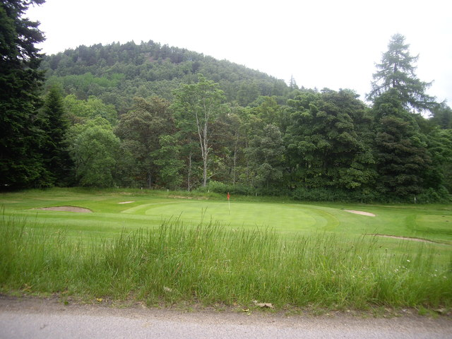 A green on the Balmoral private golf course