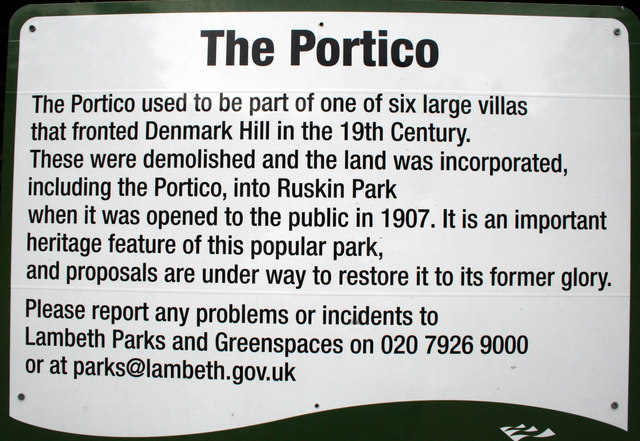 Explanatory notice for the Portico