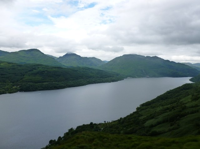 A' Chrois, Ben Vane and Ben Vorlich viewed across Loch Lomond