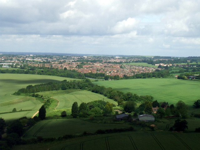 Winch Hill Farm from the air