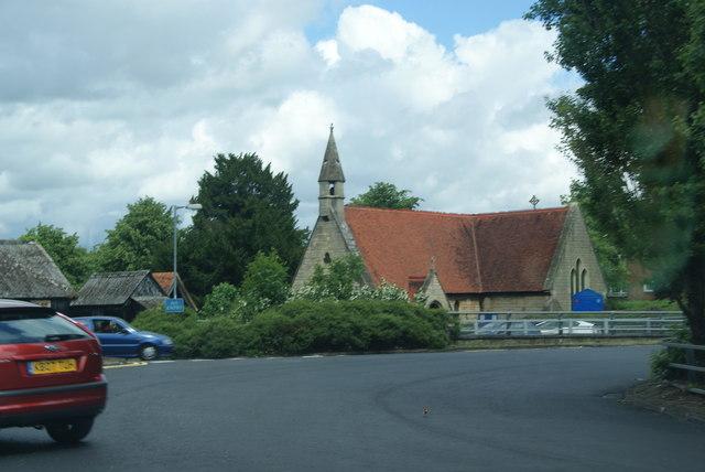 Roundabout by St Luke's Church, Hatfield
