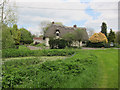 TL7454 : Thatched house in Attleton Green by Hugh Venables