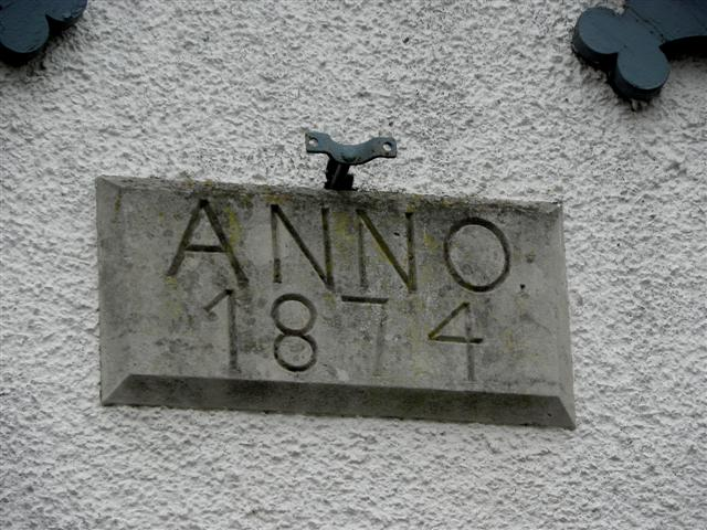 Dated plaque, Tandragee Orange Hall